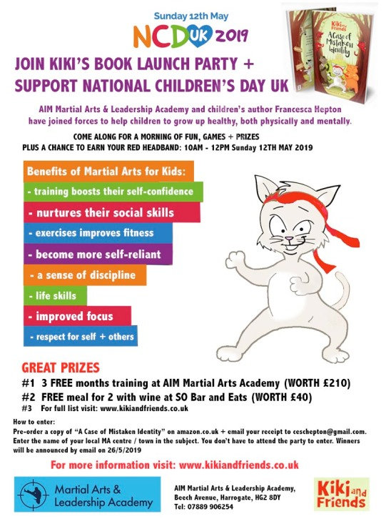 National Children's Day UK 2019 Party at AIM Martial Arts with author Francesca Hepton