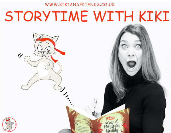 Free online author readings of Kiki's adventure stories. Perfect for entertaining kids under 7 years old. Come along and make yourself comfy.