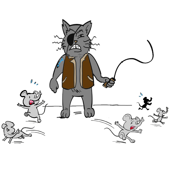 Can Kiki save the elephant mice from the eye patch cat at the circus?