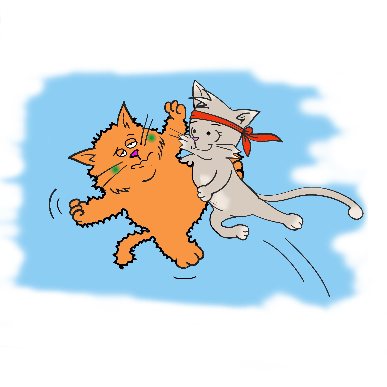 Kiki the kung fu cat saving her best friend Banjo