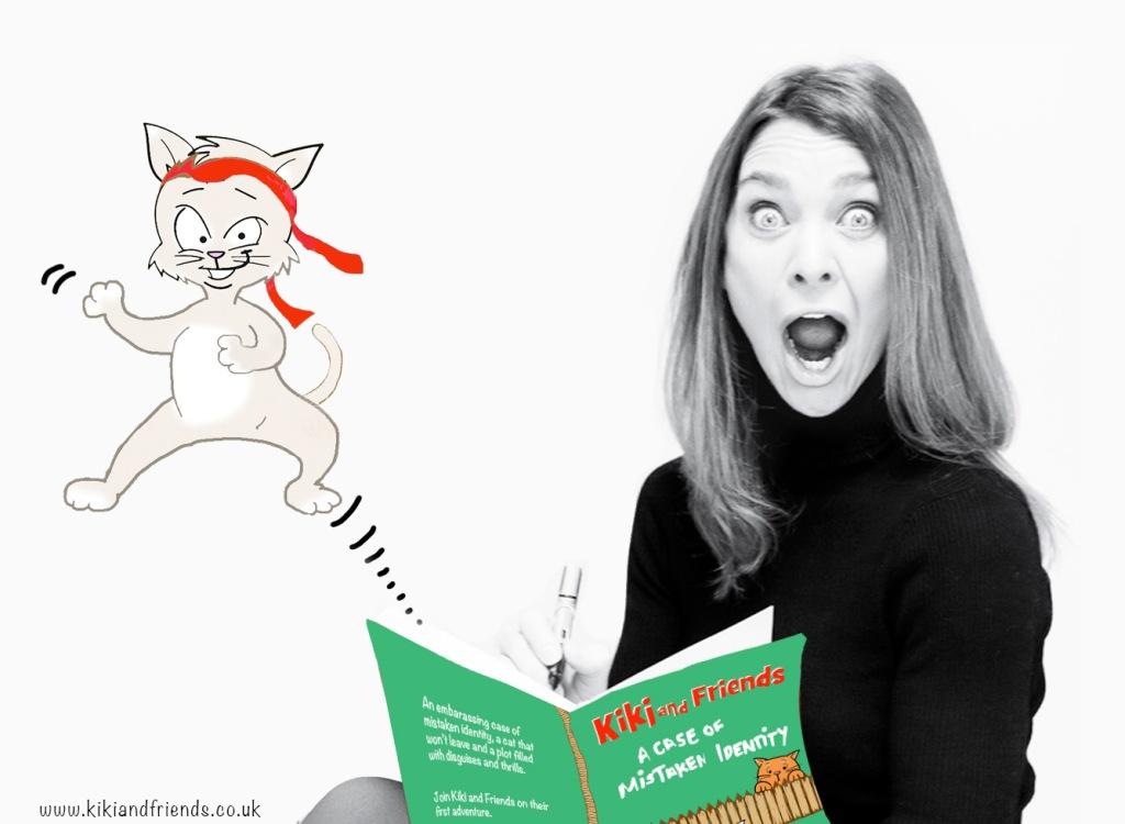 Francesca Hepton, creator of Kiki and Friends, with the amazing Kiki herself!