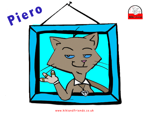 Meet Piero. A hugely popular character from the kiki and Friends series of books for children.